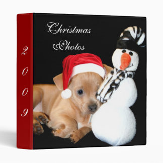 Christmas Chihuahua Photo binder