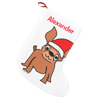 Christmas Chihuahua Santa Small Christmas Stocking