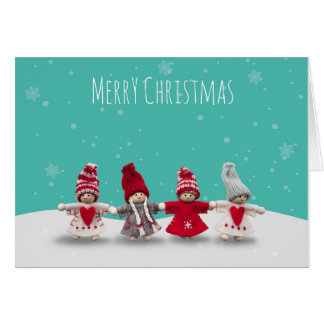 Christmas Children Greeting Card