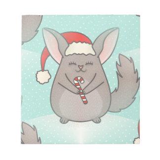 christmas chinchillas notepad