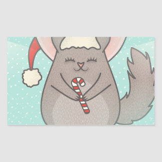 christmas chinchillas sticker