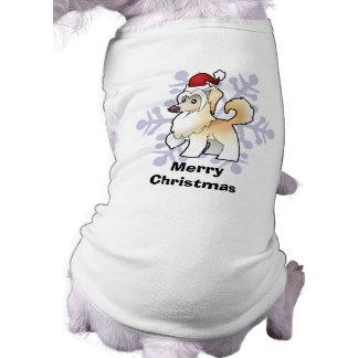 Christmas Chinese Crested (powderpuff) Dog Shirt