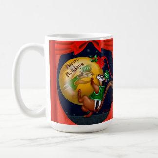 CHRISTMAS CHIPMUNK CARTOON 15 oz Classic White Mug