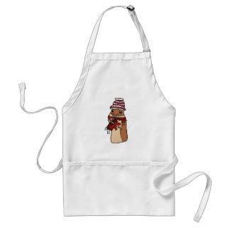 Christmas Chipmunk Hamster Gerbil Cartoon Drawing Standard Apron