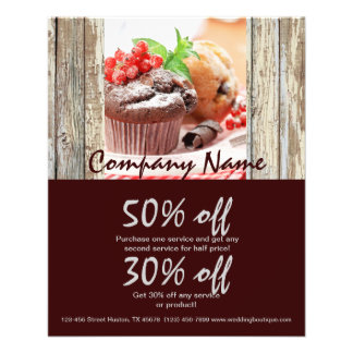 christmas chocolate cake bakery business flyer