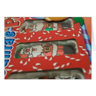 Christmas Chocolate Candy Santa Claus Card