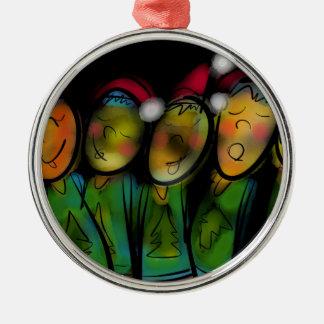 Christmas Choir Metal Ornament