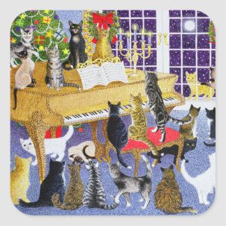 Christmas Chorus Square Sticker