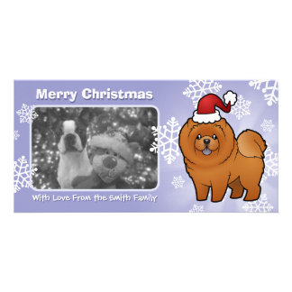 Christmas Chow Chow Personalized Photo Card