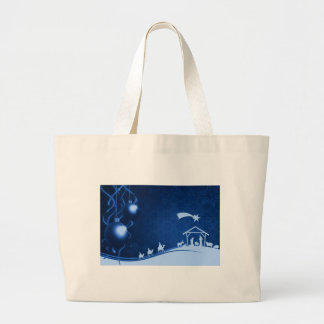 Christmas - Christ Is Born Large Tote Bag