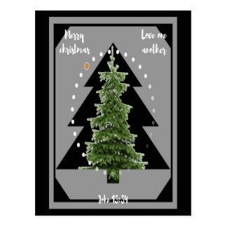 Christmas - Christmas card black Christmas tree