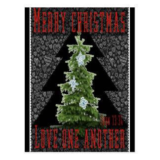 Christmas - Christmas card black red