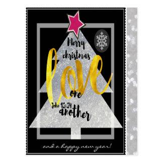 Christmas - Christmas card black sparkle
