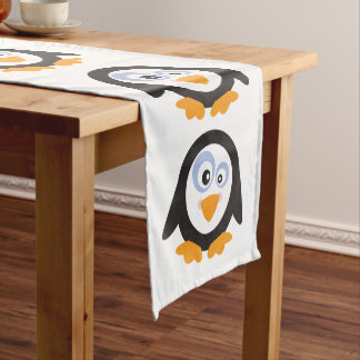 "Christmas Circle of Penguins 14""X72"" Table Runner"