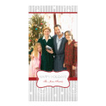 Christmas Circles - Red Silver Photo Card
