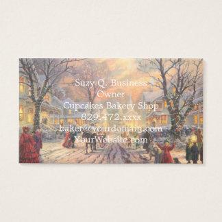 Christmas city - christmas village business card