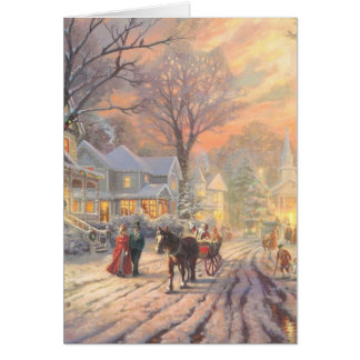 Christmas city - christmas village card