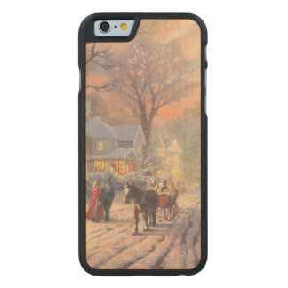 Christmas city - christmas village carved maple iPhone 6 case