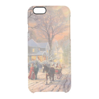 Christmas city - christmas village clear iPhone 6/6S case