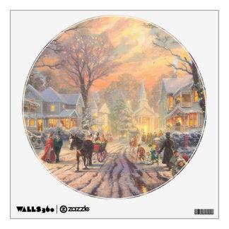 Christmas city - christmas village wall sticker