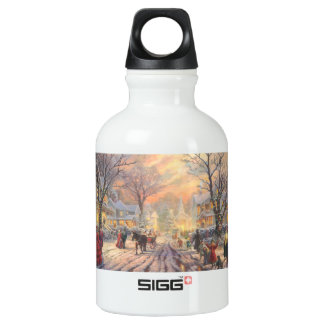 Christmas city - christmas village water bottle
