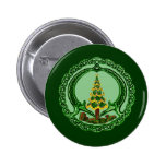 Christmas Claddagh 2 Inch Round Button