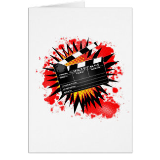 Christmas Clapperboard Card