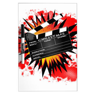 Christmas Clapperboard Dry Erase Whiteboard