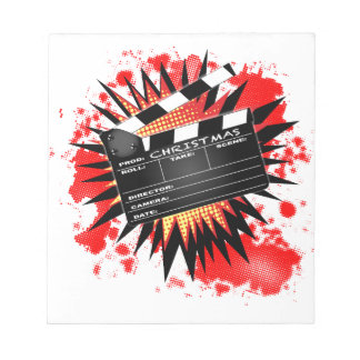 Christmas Clapperboard Notepad