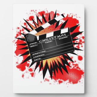 Christmas Clapperboard Plaque