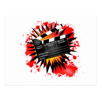 Christmas Clapperboard Postcard