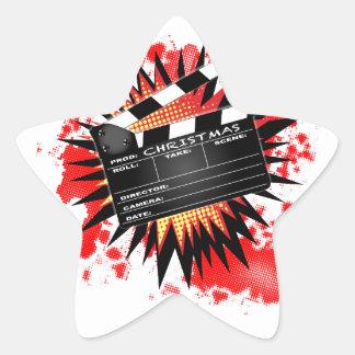 Christmas Clapperboard Star Sticker