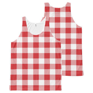Christmas classic Buffalo check plaid pattern All-Over-Print Tank Top
