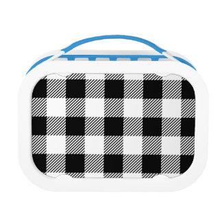 Christmas classic Buffalo check plaid pattern B&W Lunch Box