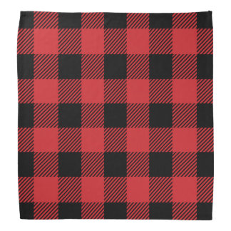Christmas classic Buffalo check plaid pattern Bandana