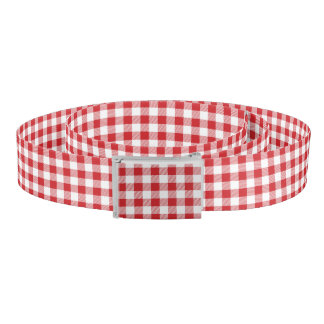 Christmas classic Buffalo check plaid pattern Belt