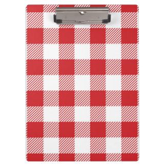 Christmas classic Buffalo check plaid pattern Clipboard