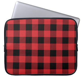 Christmas classic Buffalo check plaid pattern Laptop Sleeve