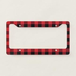 Christmas classic Buffalo check plaid pattern License Plate Frame