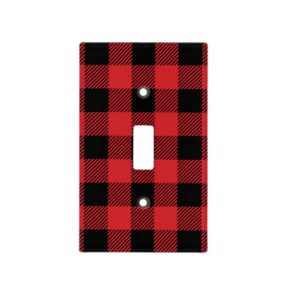 Christmas classic Buffalo check plaid pattern Light Switch Cover