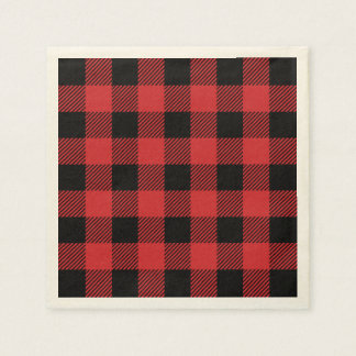 Christmas classic Buffalo check plaid pattern Paper Napkin