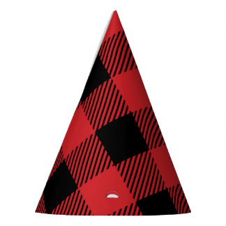 Christmas classic Buffalo check plaid pattern Party Hat