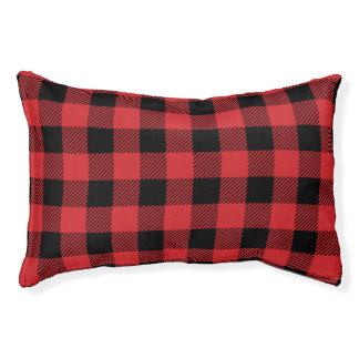 Christmas classic Buffalo check plaid pattern Pet Bed