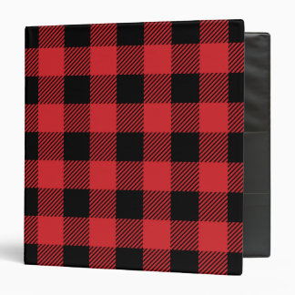 Christmas classic Buffalo check plaid pattern Vinyl Binder