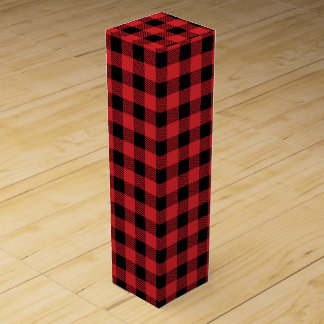 Christmas classic Buffalo check plaid pattern Wine Gift Box