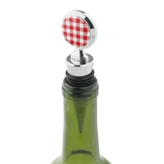 Christmas classic Buffalo check plaid pattern Wine Stopper