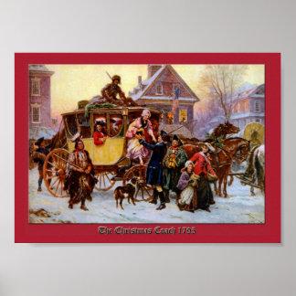 Christmas Coach 1795 by Jean Leon Ferris Print