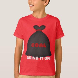 Christmas coal cartoon Holiday kids t-shirt