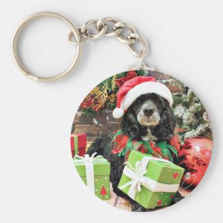 Christmas - Cockapoo - Baxter Keychain