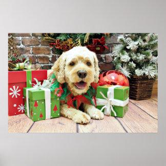 Christmas - Cockapoo - Cooper Poster
